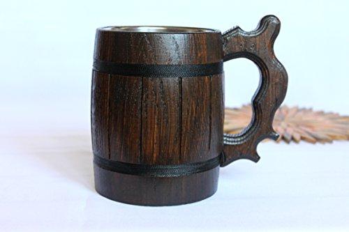 Handmade Wooden Beer Mug Eco Friendly Great Gift Ideas Wood Beer Mug Brown 06L 2028oz