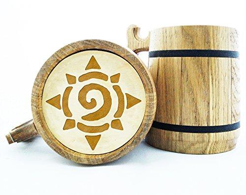 World Of Warcraft Gifts  Hearthstone Mug  WOW Gift  Wood Beer Mug  Engraved Mug  Personal Gifts for Men  Beer Tankard Gamer Gift K65