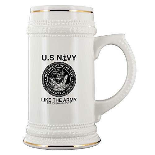Funny Navy Beer Stein United States Navy Ceramic Stein