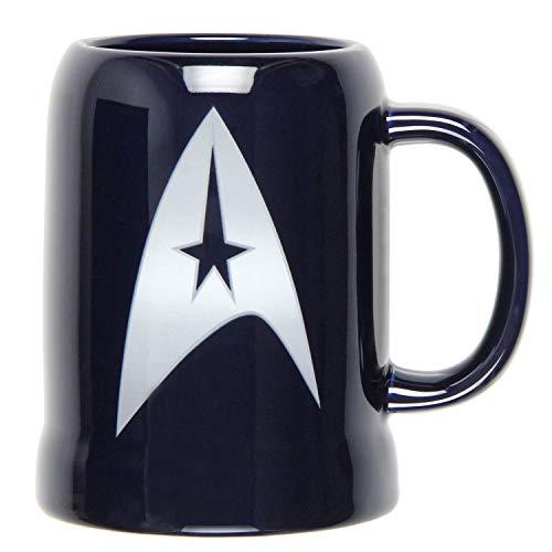 Vandor 80879 Star Trek 20 oz Ceramic Stein Blue