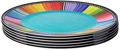 Certified International Certified Dishwasher Safe International Serape 11-inch Melamine Dinner Plate Set of 6