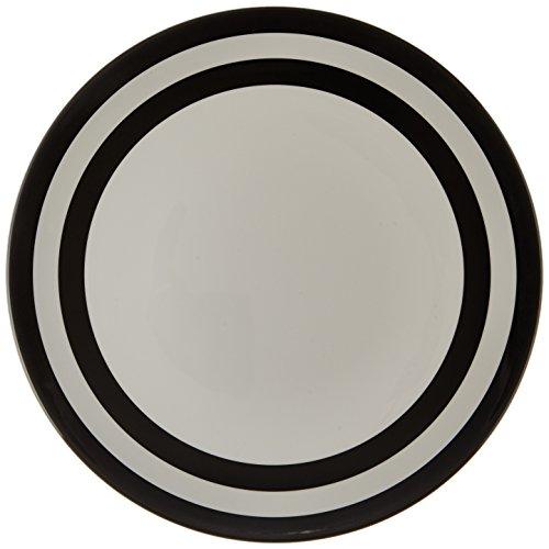 Kate Spade New York Raise a Glass Melamine Dinner Plate Black Stripe