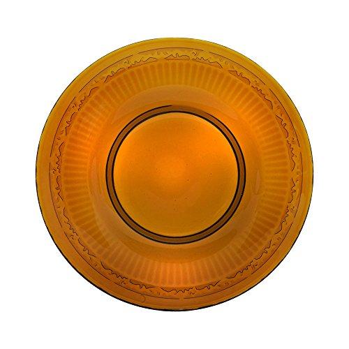 Mikasa Italian Countryside Amber Glass Salad Plate 8-34-Inch