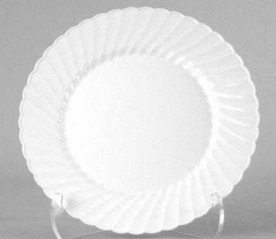 WNA Classicware 75 White Plastic Salad Plate 180 per Case