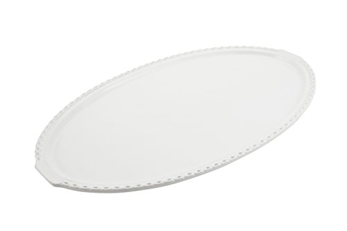 Bon Chef 2700 Aluminum Chef Platter 33 Length x 19 Width Sandstone White