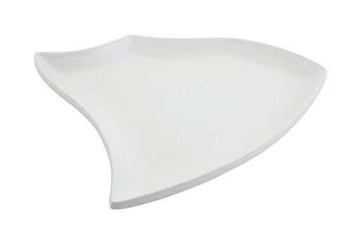 Bon Chef 70003 Futura Aluminum Platter 16-34 Length Sandstone White