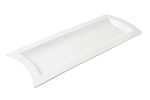 Bon Chef 70032 Futura Aluminum Platter 28-58 Length x 11-38 Width Sandstone White
