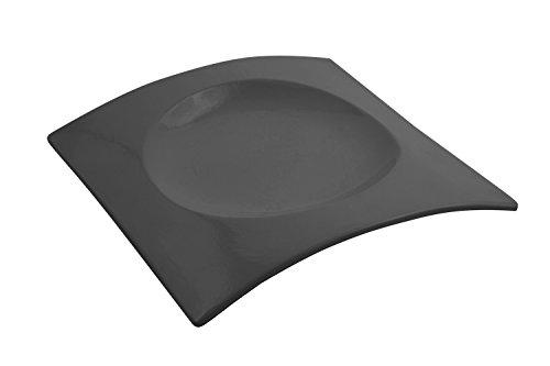 Bon Chef 70036BLK Futura Aluminum Platter 12-14 Length x 12-14 Width Black