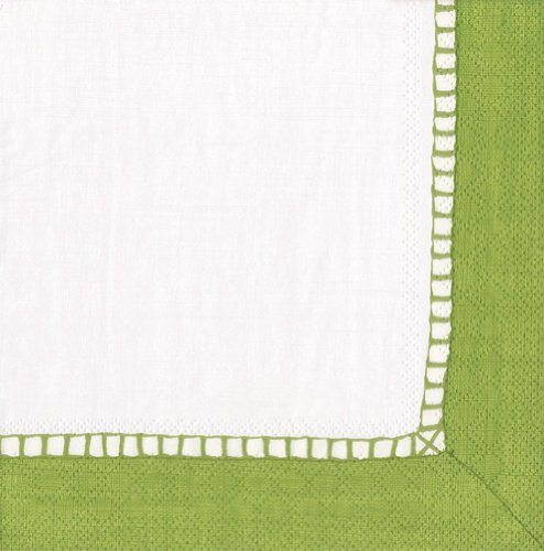 Entertaining with Caspari Linen Paper Luncheon Napkins Bright Green Pack of 20