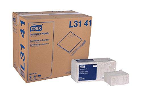Tork Universal L3141 Luncheon Napkin 1-Ply 14 Fold 13 Width x 115 Length White Case of 12 Packs 500 per Pack 6000 Napkins