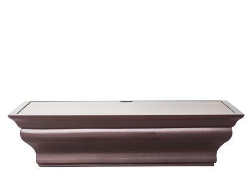 Wood multifold paper towel dispenserinterlocking single sheetswall mounttop load Espresso Traditional Healthy Shelf