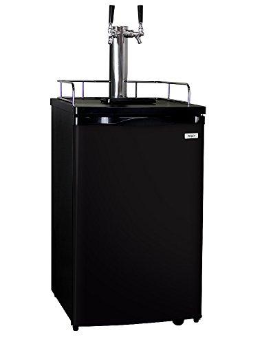 Kegco Full-Size Homebrew Kegerator Dual Faucet Ball Lock Keg Dispenser Black