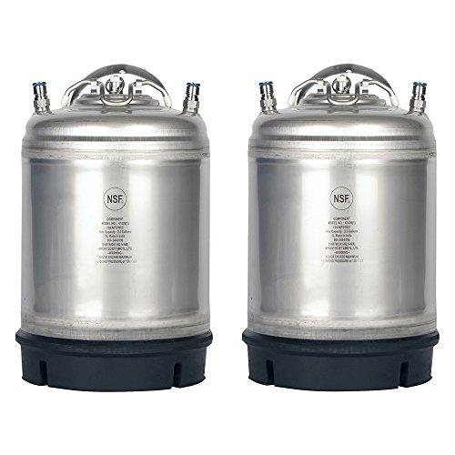 Two New 25 Gallon Ball Lock Kegs -Single Handle  Free O-Ring Kit