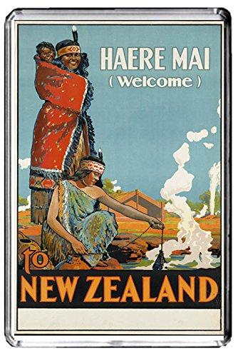 A297 NEW ZEALAND FRIDGE MAGNET NEW ZEALAND TRAVEL VINTAGE REFRIGERATOR MAGNET