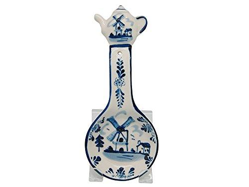 Ceramic Spoon Rests Delft Blue Teapot 85