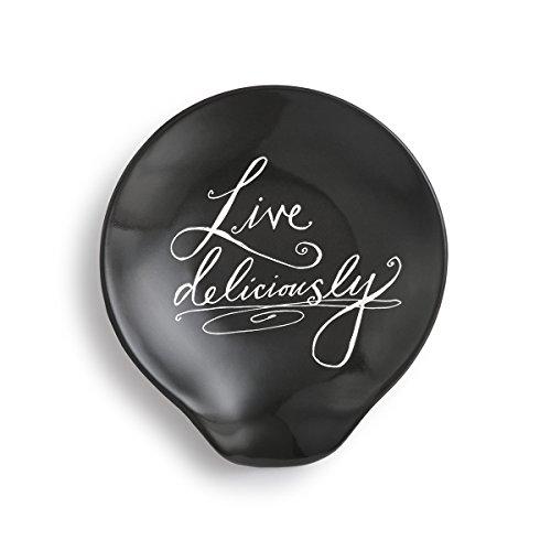 Demdaco 1004180164 Ceramic Spoon Rest Black