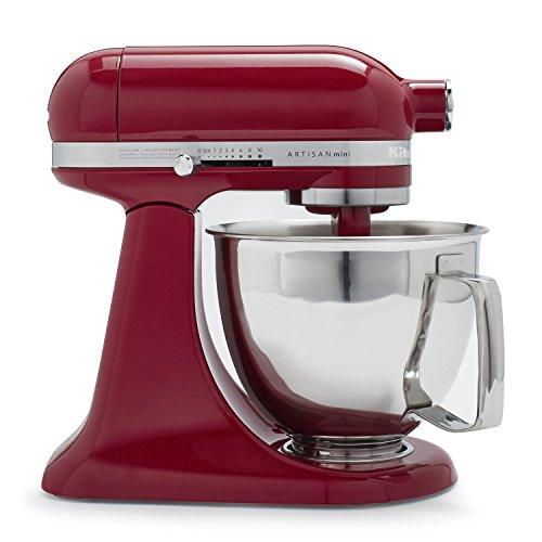 KitchenAid Artisan Mini Premium Tilt-Head Stand Mixer with Flex Edge Beater KSM3316XFW  35 qt Empire Red