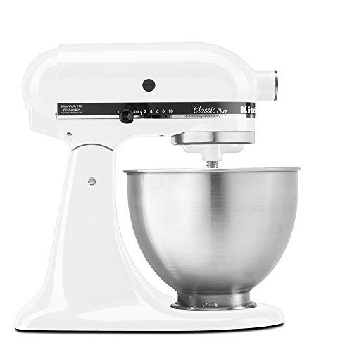 KitchenAid KSM75WH Classic Plus Series 45-Quart Tilt-Head Stand Mixer White