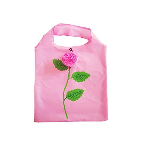 Handbag Flowers Shape Foldable Shopping Bags Reusable Folding Grocery Nylon Large Bag Cute Tote Pouch 1PcsPk