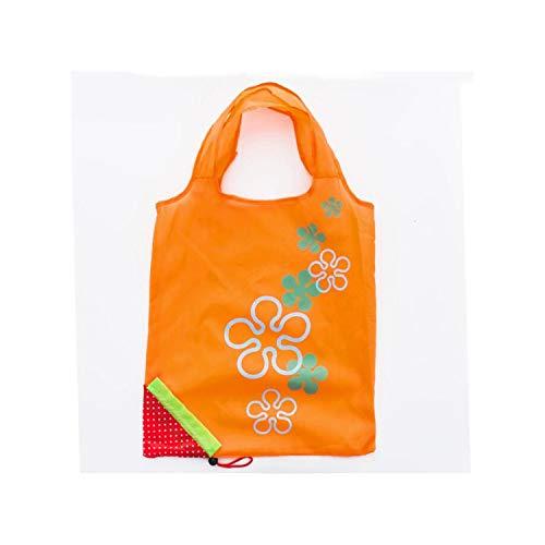 Strawberry Foldable Shopping Bags Handbag Reusable Folding Grocery Nylon Large Bag ToteOrange