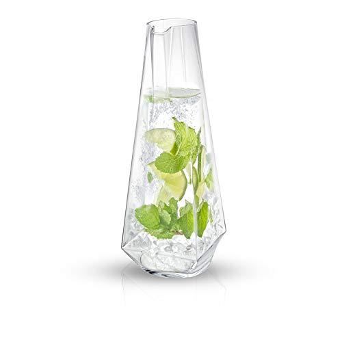 JoyJolt Infiniti Water Pitcher - 43Oz Deluxe Glass Pitcher - Premium Quality Crystal Lemonade Pitcher - Elegant Classic Design - Perfect Sangria Pitcher Serving Iced Tea Fruit Infusion Juice