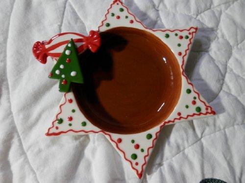 Ceramic Christmas Star Candy Dish Christmas Candy Dish
