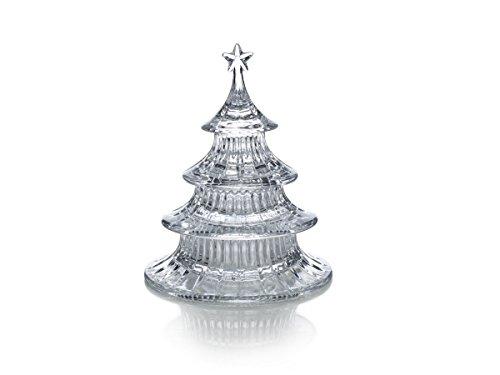 Celebrations by Mikasa Holiday Treats Crystal Stacking Tree Candy Dish 85-Inch