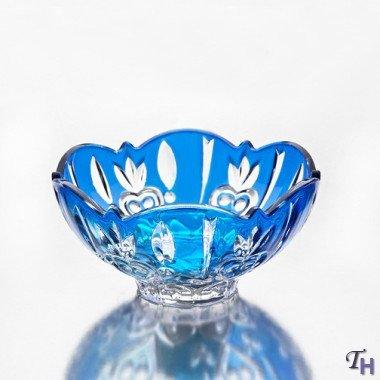 StudioSilversmiths 43990 Fine Blue Crystal Candy Dish