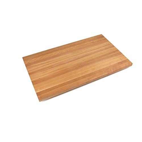 John Boos Edge-Grain Cherry Butcher Block Countertop - 3 Thick 145 L x 36 W Varnique Semi-Gloss