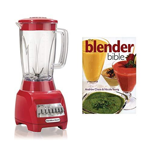 Hamilton Beach 48 Ounce Countertop Blender with The Blender Bible Recipe Guide