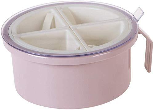 WEN DONG Box Multigrain Seasoning Jar Seasoning Box Round Seasoning Box Salt Pepper Dispenser Storage Container Shelf KitchenPink