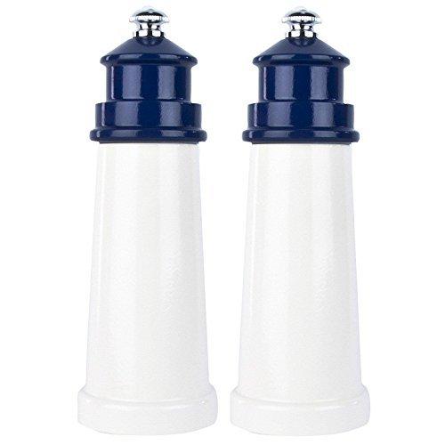 Fletchers Mill 6 Lighthouse Pepper Salt Mill  Grinder Set - Cobalt Blue
