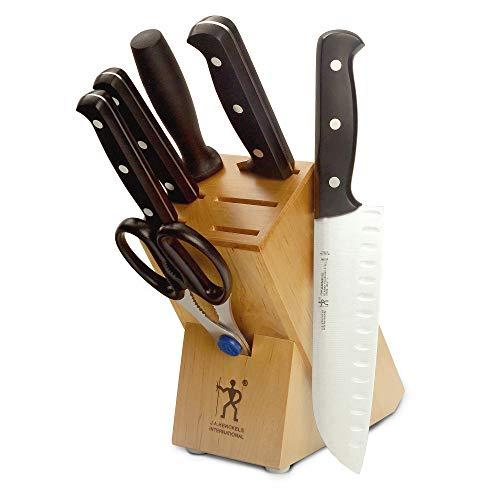 JA Henckels 35340-000 Fine Edge Pro Knife Block Set 7 Piece Black