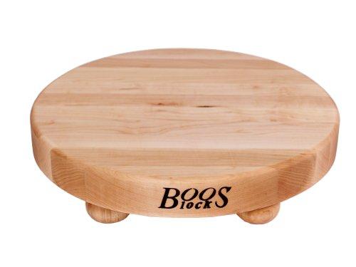 John Boos 12-inch Round Maple Cutting Board With Feet