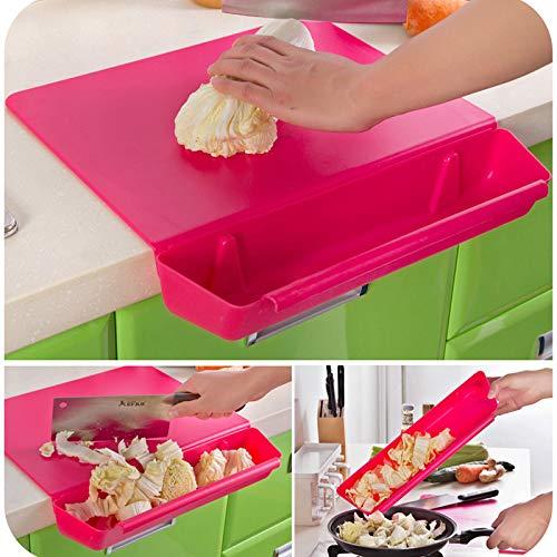 Fiesta 2 in 1 Kitchen Foldable Chopping Board Creative Non-slip Folding Cutting Board Perfect Cooking Mat Green