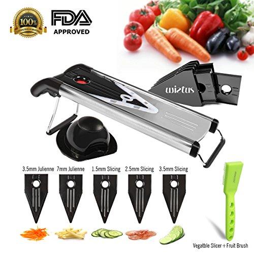 Wietus V Blade Stainless Steel Vegetable FruitJulienne and Mandoline Slicer