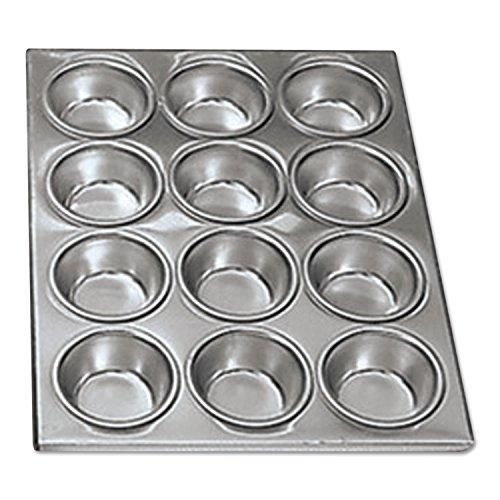 Adcraft AMP-12 14 Length x 12 Width 12 Cups Aluminum Muffin Pan