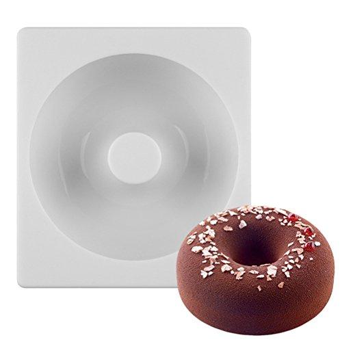OUNONA Silicone Donuts MoldNonstick Donut Pans Donut Baking Pan For OvenMicrowaveDishwasherWhite