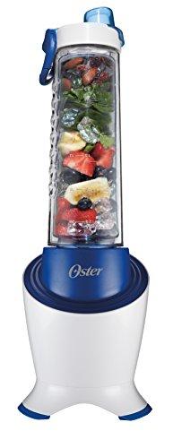 Oster BLSTPB2-WBL MyBlend Pro Series Personal Blender with Condensation Free Bottle Travel Clip and 4 Reusable Straws Blue
