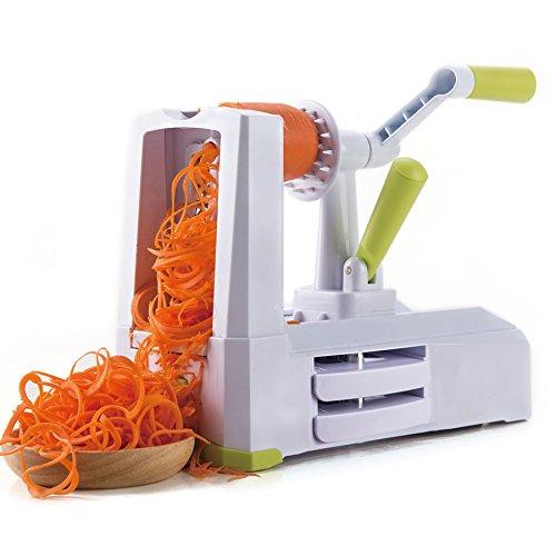 CO-Z 5-Blade Spiralizer Vegetable Spiral Slicer Veggie Pasta Spaghetti Maker for Low Carb Paleo Gluten-Free