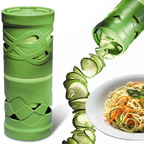 Nebulae Vegetable Spiralizer handheld Spiral Slicer Set 2 Steel Blades Veggie noodleZoodle and Zucchini Spaghetti Maker Strong kitchen Vegetable Cutter for Low CarbPaleoGlutenFree