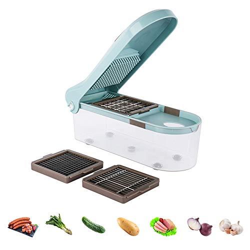Zucchini Spaghetti MakerVegetable Spiralizer Food Chooper Manual Vegetable CutterGarlic Grater with 3 Satianless Steel Blades Kitchen Accessories