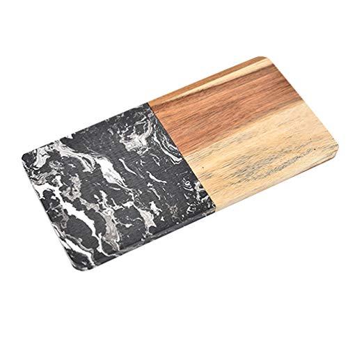 UPKOCH Marble Meat Cutting Board Vegetable Fruit Chopping Board Kitchen Cut Board for Pizza Steak Bread