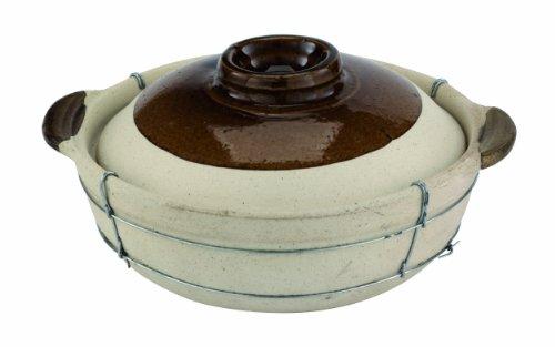 Paderno World Cuisine 2 Quart Dual-handled Clay Cooking Pot