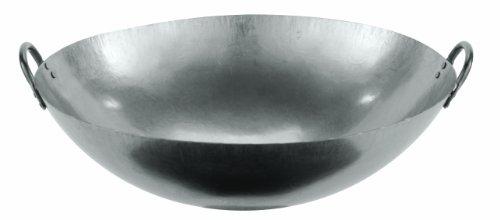 Paderno World Cuisine 24-Inch Dual Handled Steel Chinese Wok