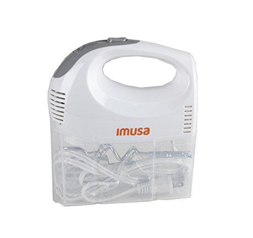 IMUSA USA GAU-80324W Hand Mixer with Case 5-Speed White
