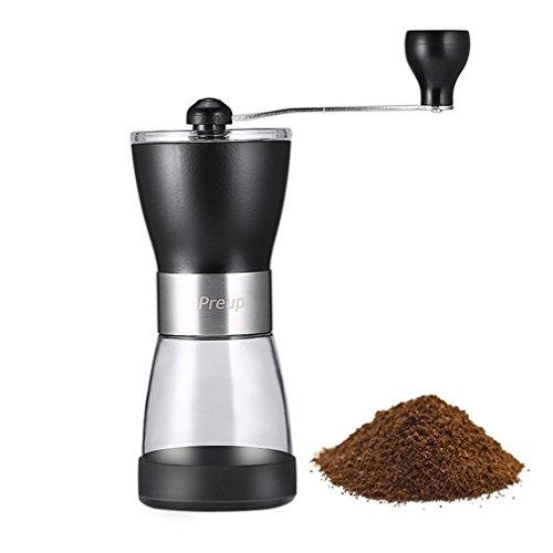 Manual Ceramic Burr Coffee GrinderPreup Hand Crank Coffee Grinder with Ceramic Burr with Adjustable Coarseness Screw
