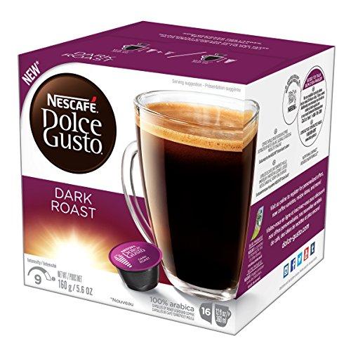 NESCAFÉ Dolce Gusto Coffee Capsules – Dark Roast – 48 Single Serve Pods Makes 48 Cups        48 Count