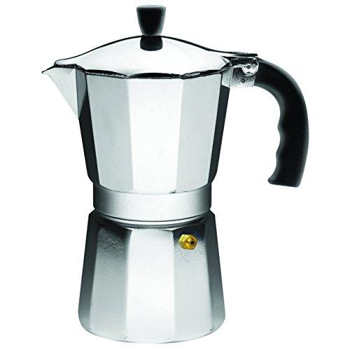 IMUSA USA B120-43V Aluminum Espresso Stovetop Coffeemaker 6-cup Silver