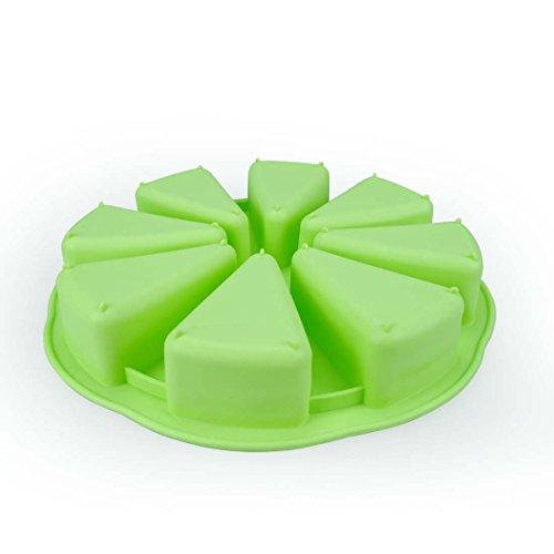 Miren 8 Triangle Cavity Silicone Portion Cake Mold Scottish Scone & Cornbread Pan Slices Pastry Pan Pizza Slices